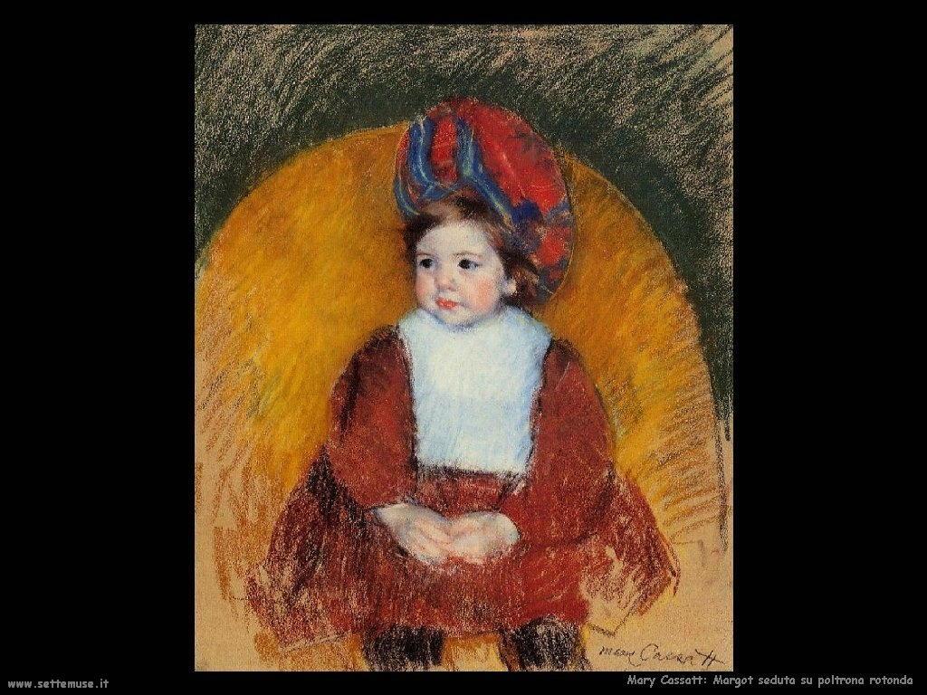 Mary Cassatt In vestito rosso nero