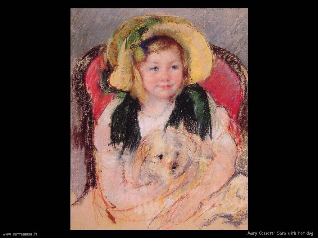 Mary Cassatt Sara con il suo cane