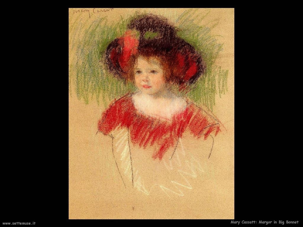 Mary Cassatt_Margot_in_Big_Bonnett_and_Red_Dress