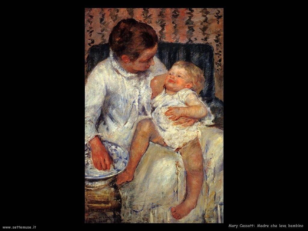 Mary Cassatt_Madre che sta per fare il bagno al piccolo assonnato