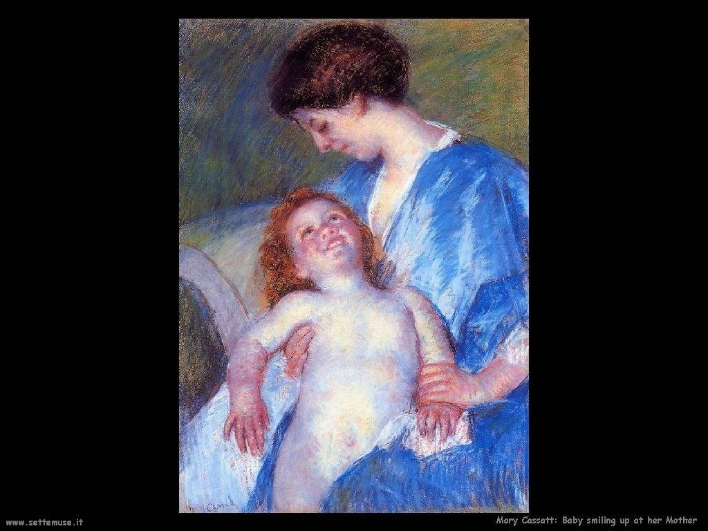 Mary Cassatt_Baby che sorride a sua madre