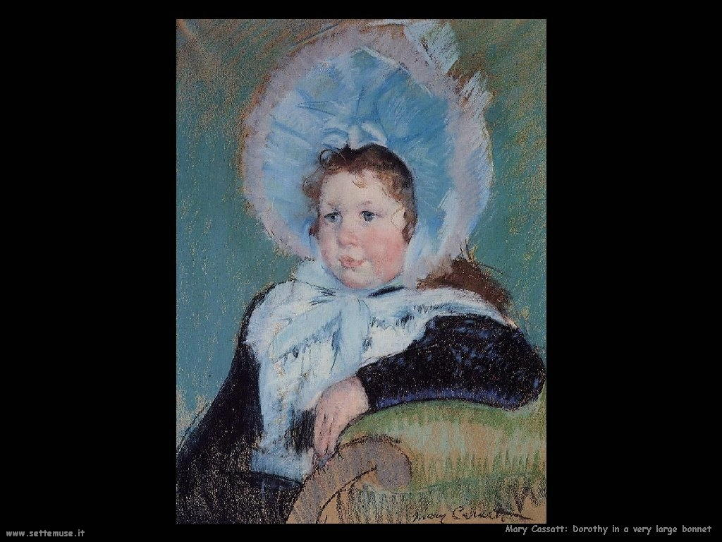 Mary Cassatt_Dorothy_in_a_Very_Large_Bonnet_and_a_Dark_Coat