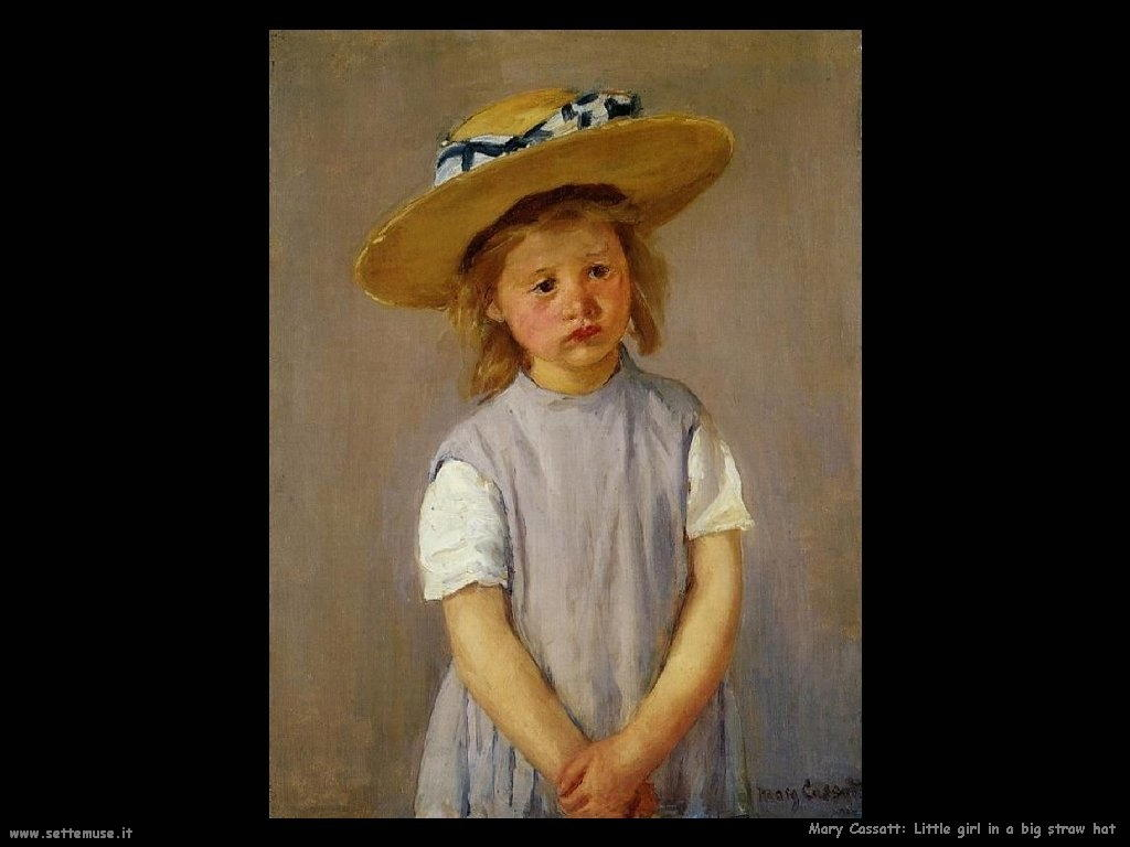 Mary Cassatt_Little_Girl_in_a_Big_Straw_Hat_and_a_Pinnafore
