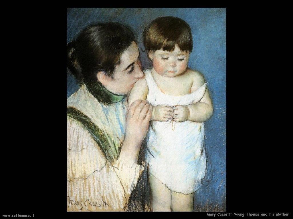 Mary Cassatt Giovane Thomas e sua madre