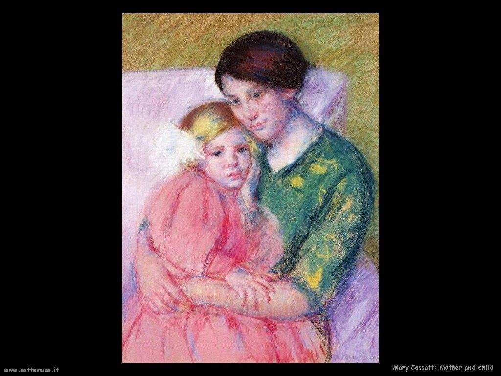 Mary Cassatt Mamma con bambino
