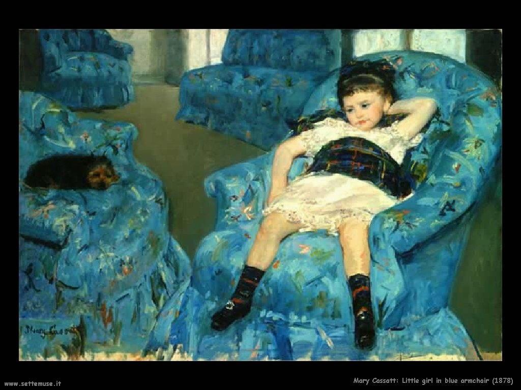 Mary Cassatt_Ragazzina in poltrona blu_1878