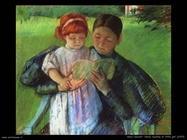 Mary Cassatt Badannte che legge alla bambina