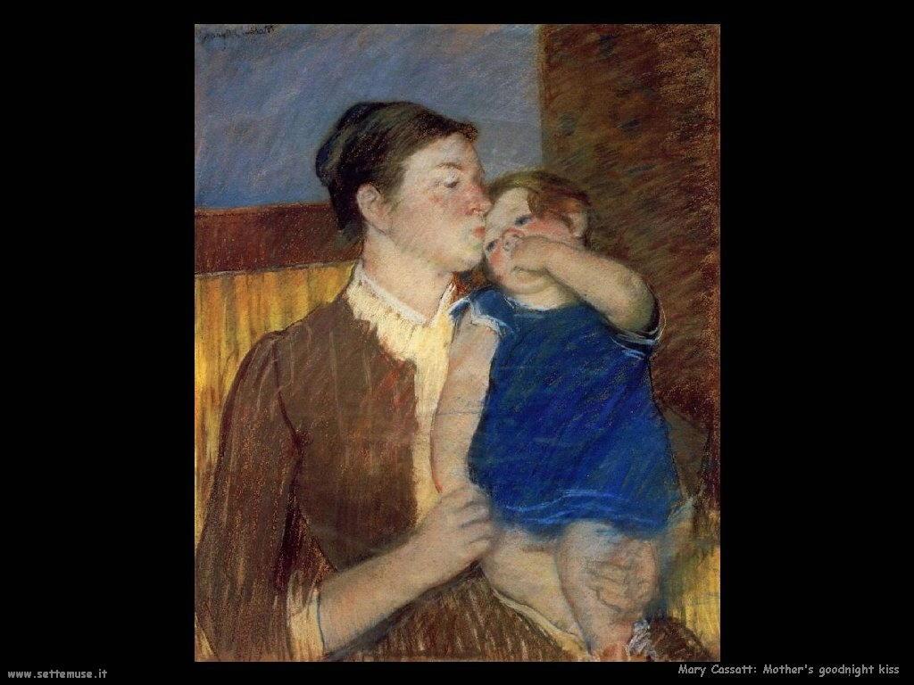 Mary Cassatt bacio della buona notte