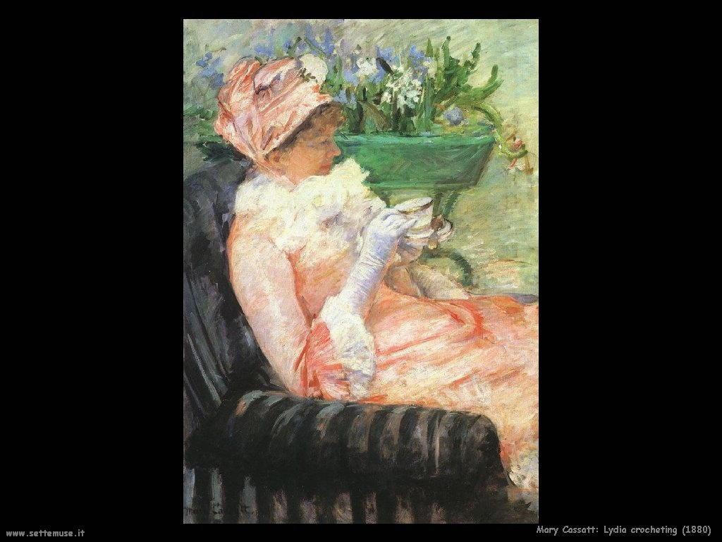Mary Cassatt lavora a uncinetto