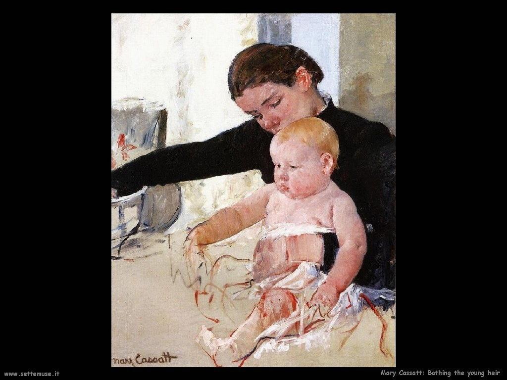 Mary Cassatt il bagno al piccolo