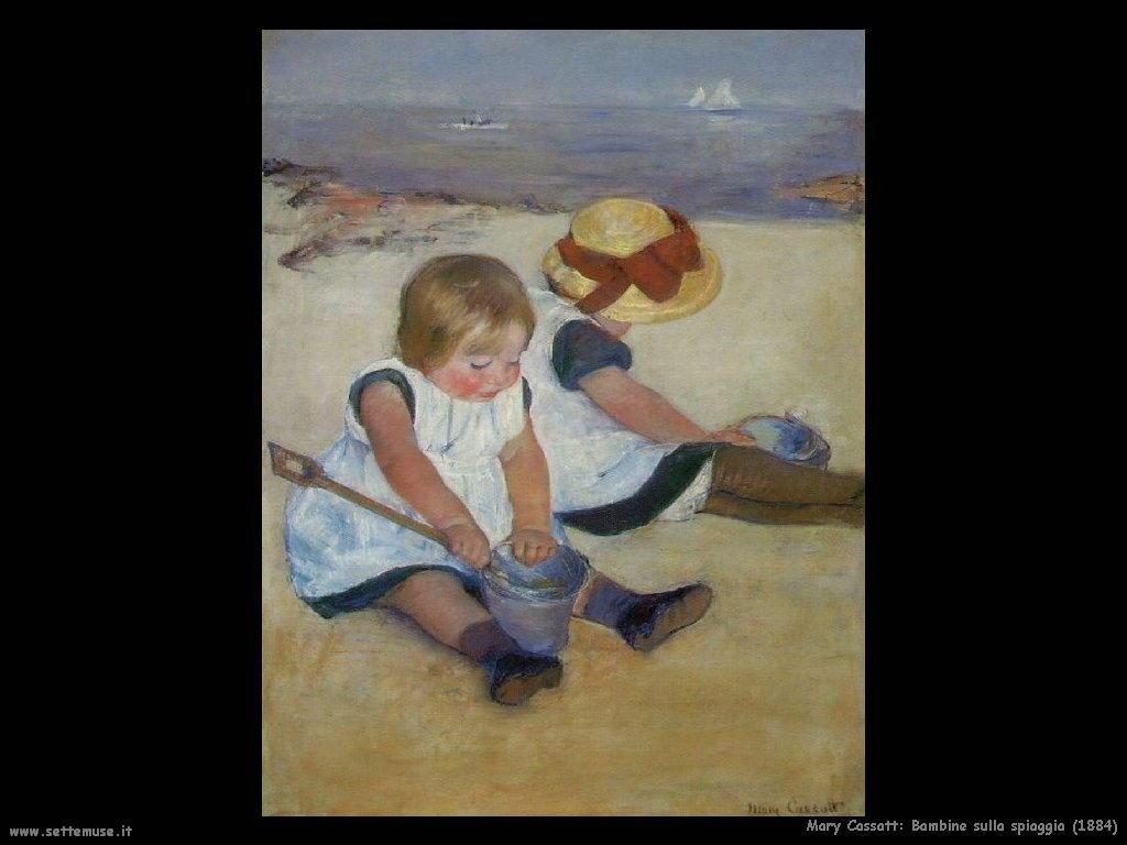 Mary Cassatt bambine sulla spiaggia