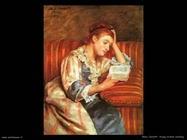 Mary Cassatt giovane mentre legge