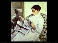 Mary Cassatt leggedo il figaro