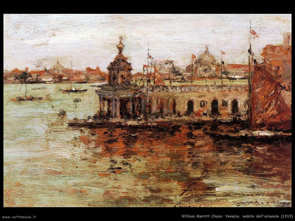 william_merritt_chase_venezia_veduta_dell_arsenale_1913