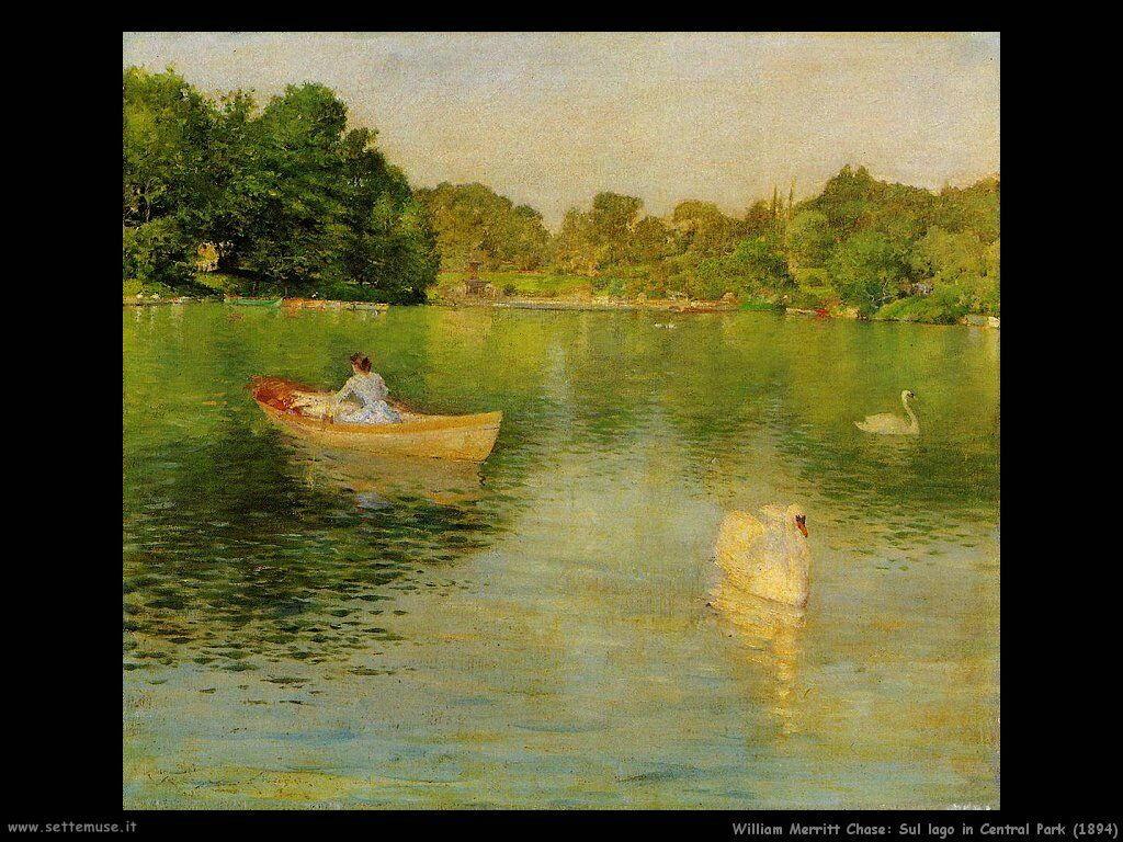 william_merritt_chase_sul_lago_central_park_1894