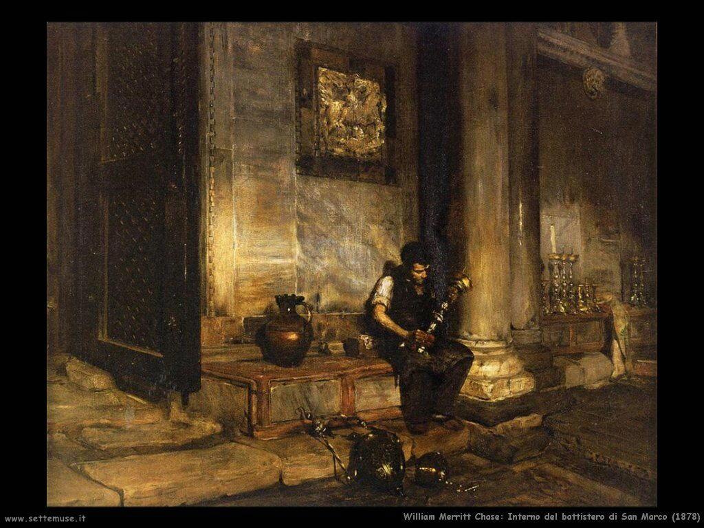 william_merritt_chase_interno_battistero_san_marco_1878