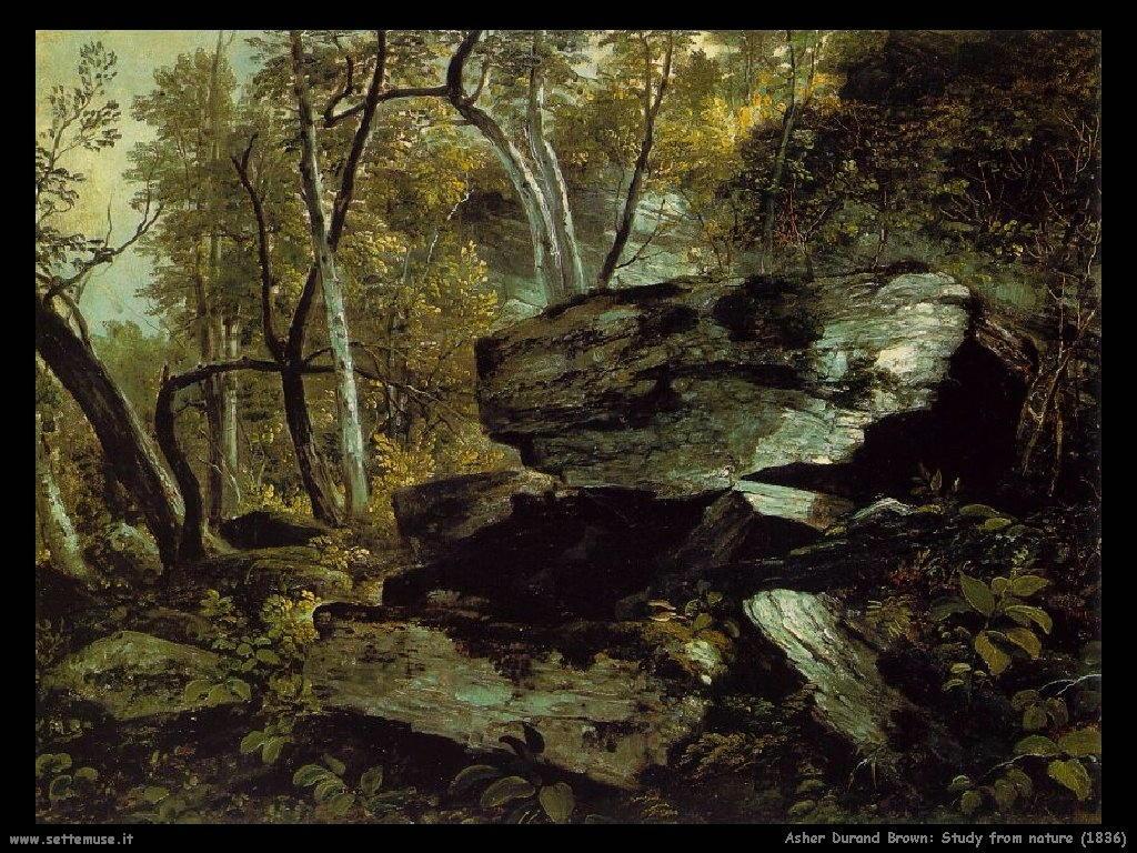 Durand Asher Brown Studio sulla natura (1836)