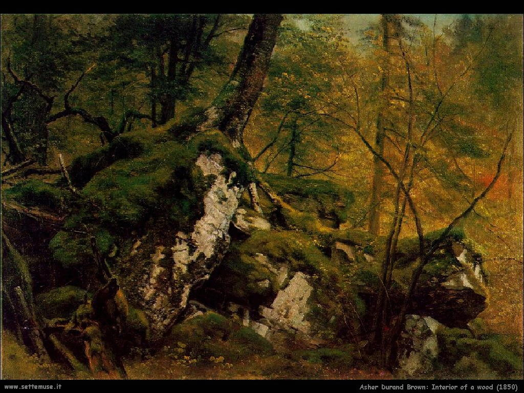 Durand Asher Brown Interno di un Bosco (1850)