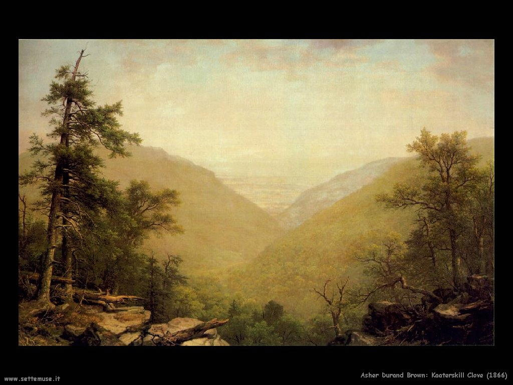 Durand Asher Brown Kaaterskill clove (1866)