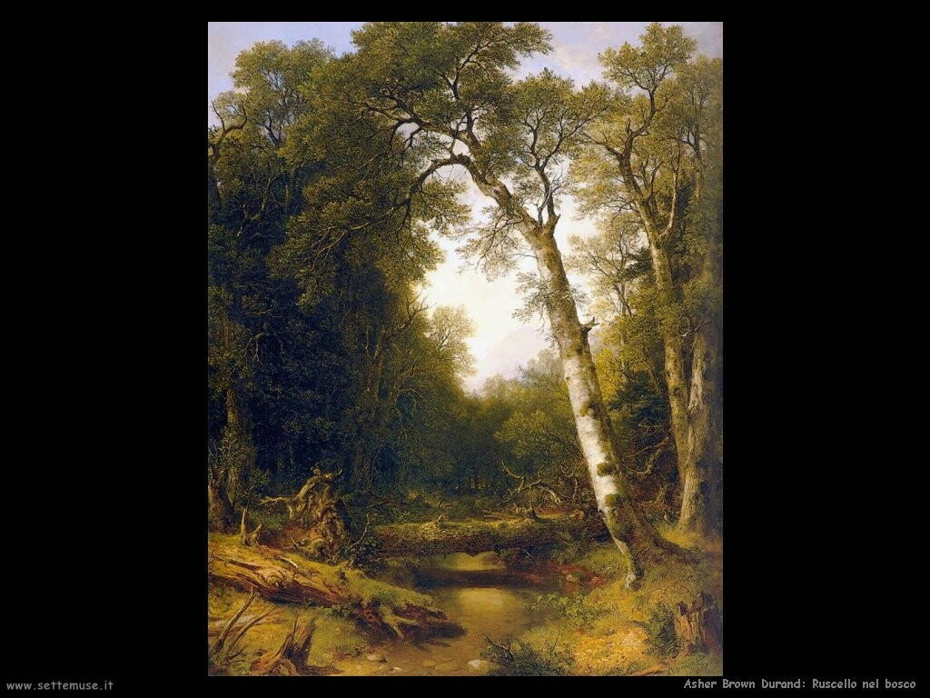 Durand Asher Brown Un ruscello nel Bosco