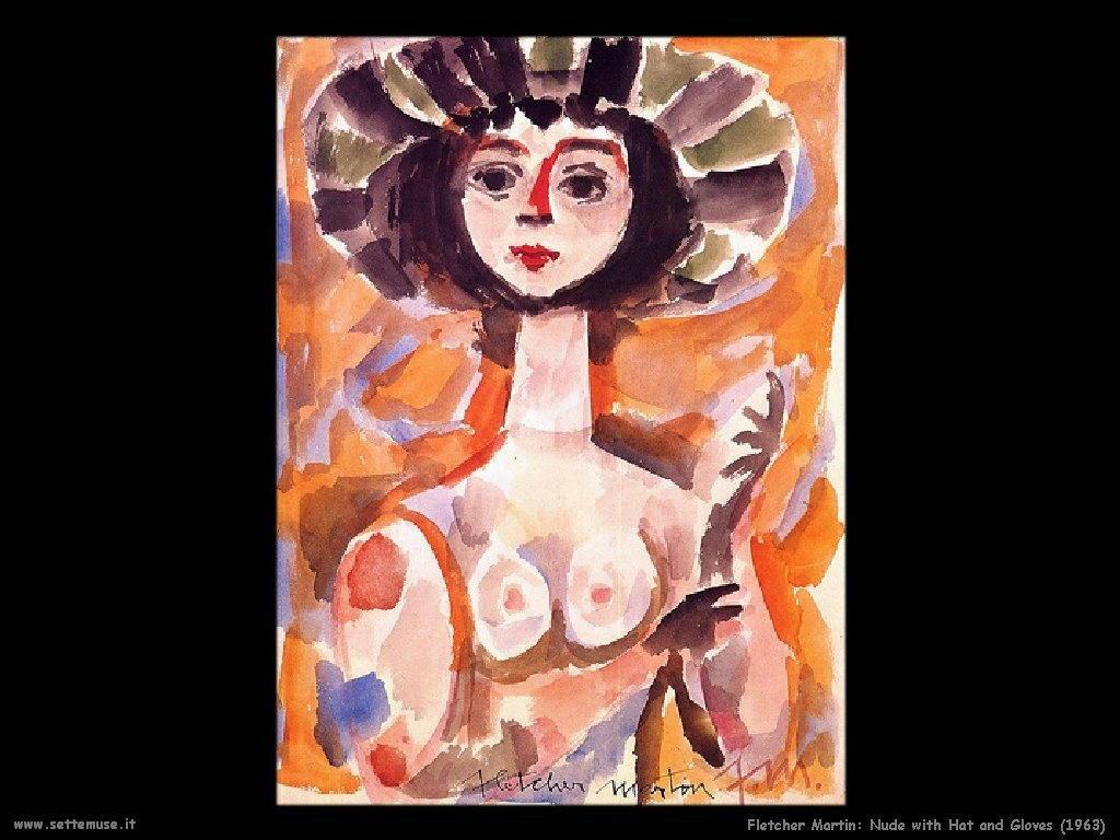 Martin Fletcher Nudo con guanti e Cappello_1963