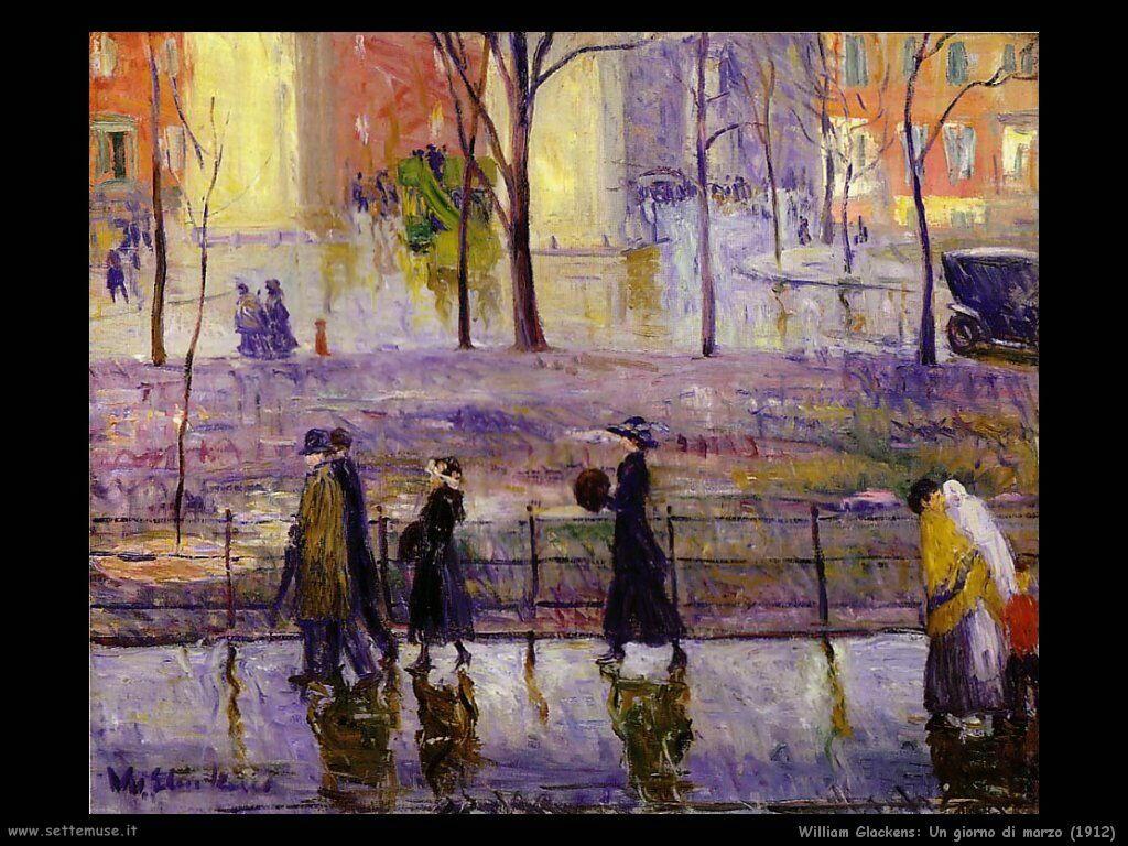 william_glackens Giorno di marzo (1912)