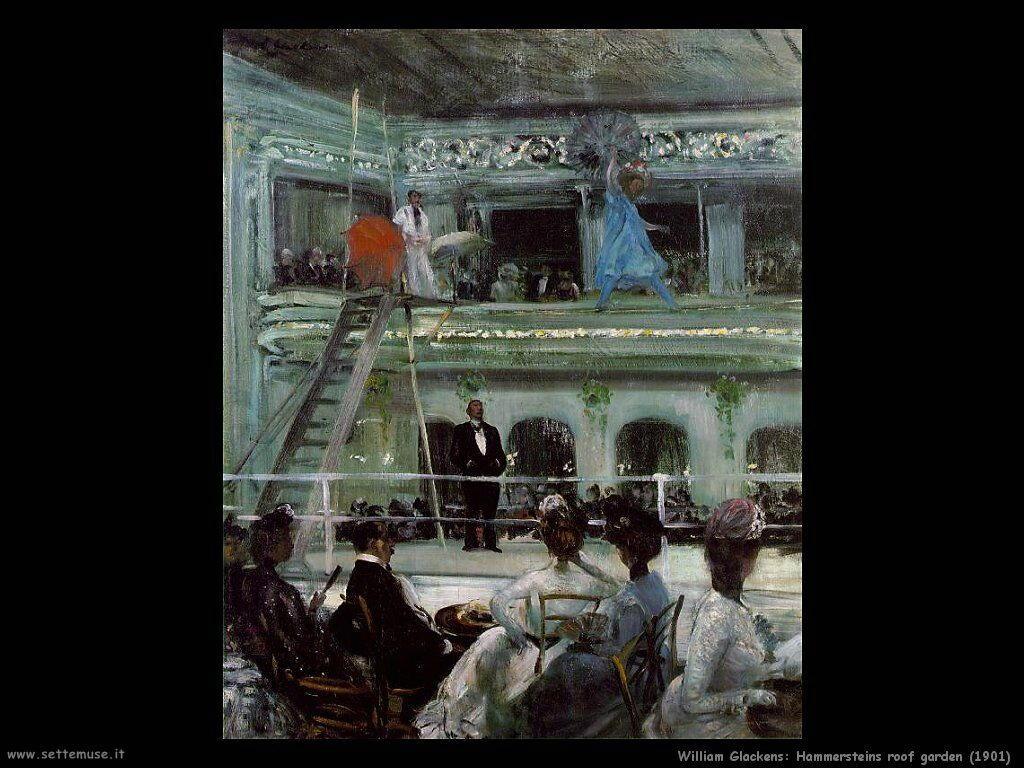 william_glackens_Hammersteins Giardino sul tetto (1901)