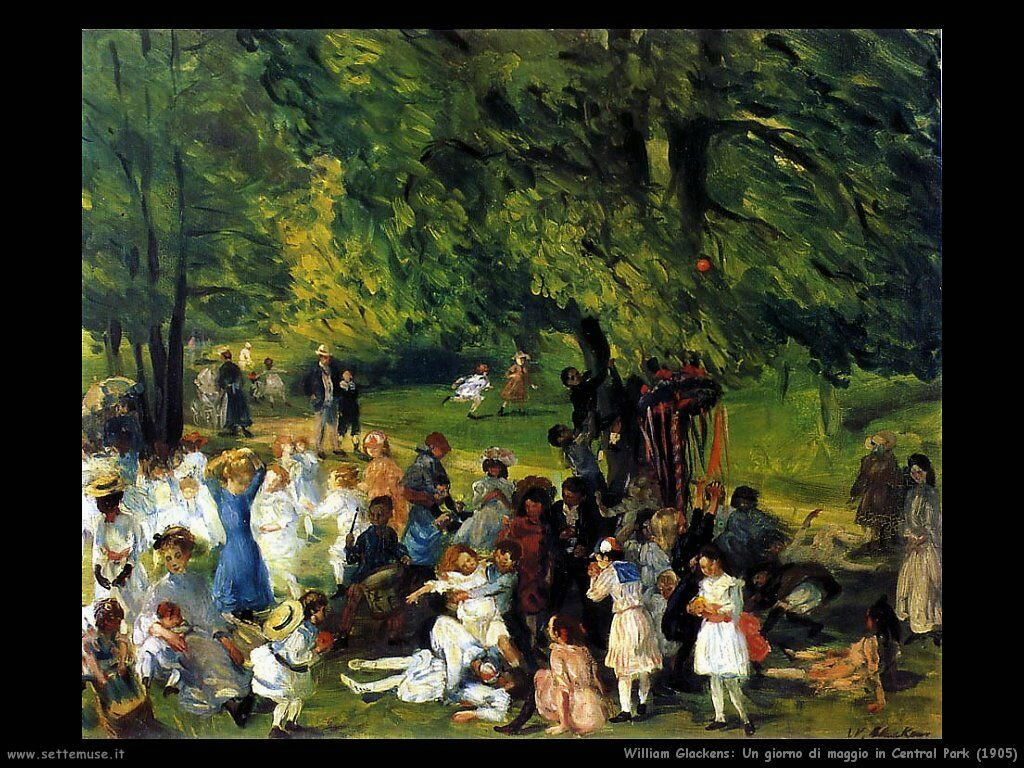 william_glackens_Giorno di maggio in Central Park (1905)