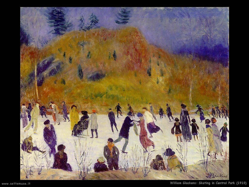 william_glackens_Pattinaggio a Central Park (1910)