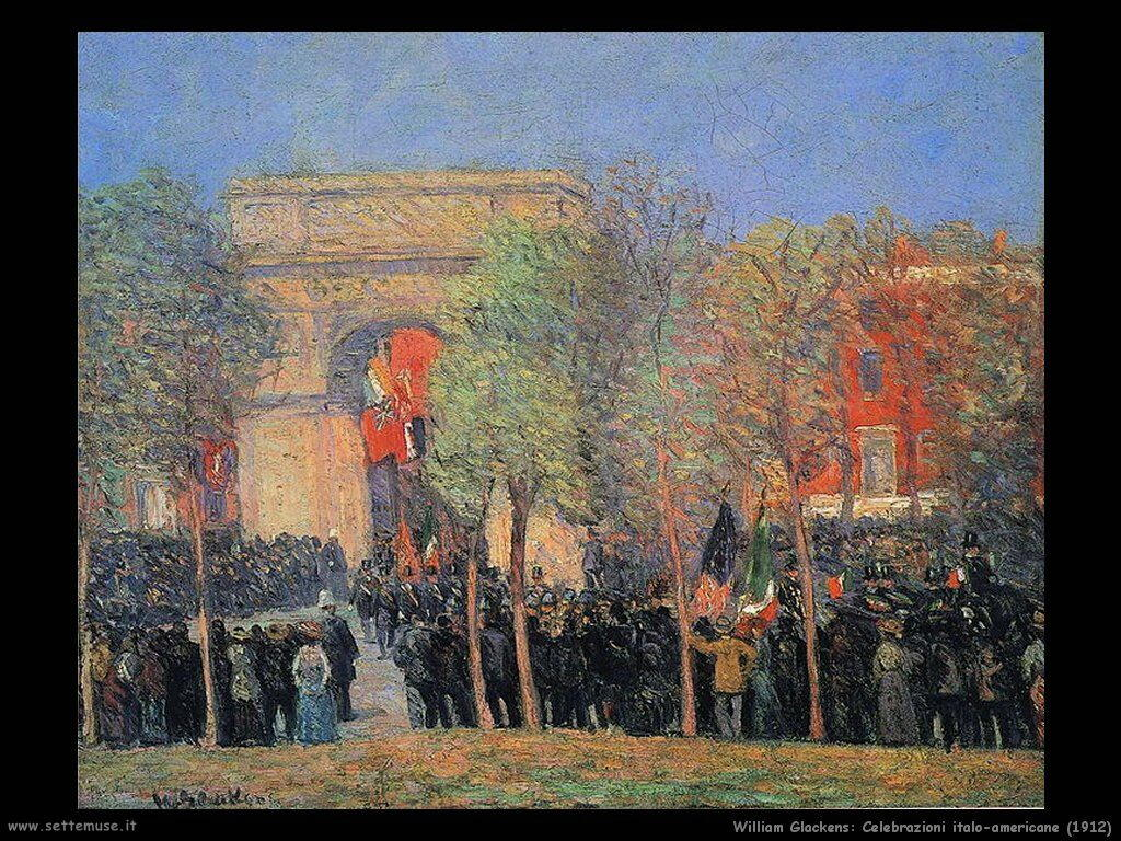 william_glackens_Celebrazioni italo-americane (1912)