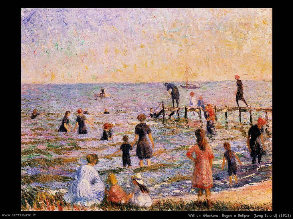 william_glackens Bagno a Bellport (Long Island) (1911)
