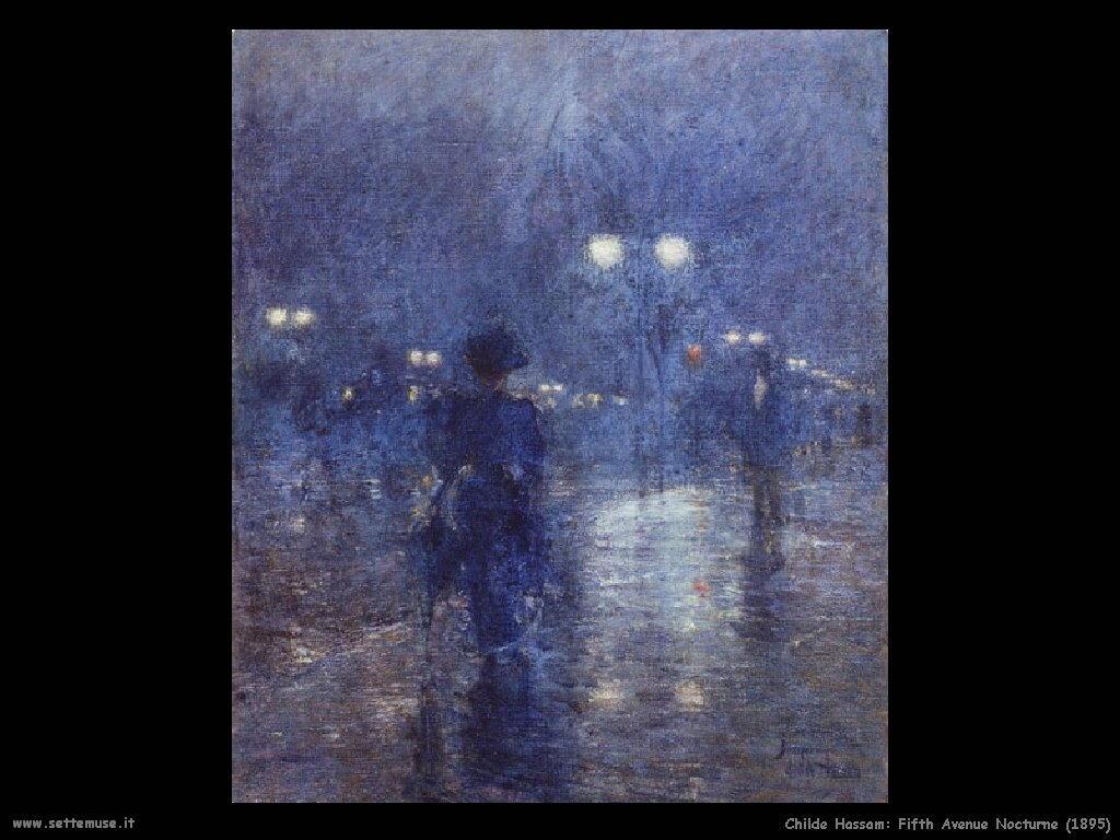 Childe Hassam Quinta strada di notte_1895