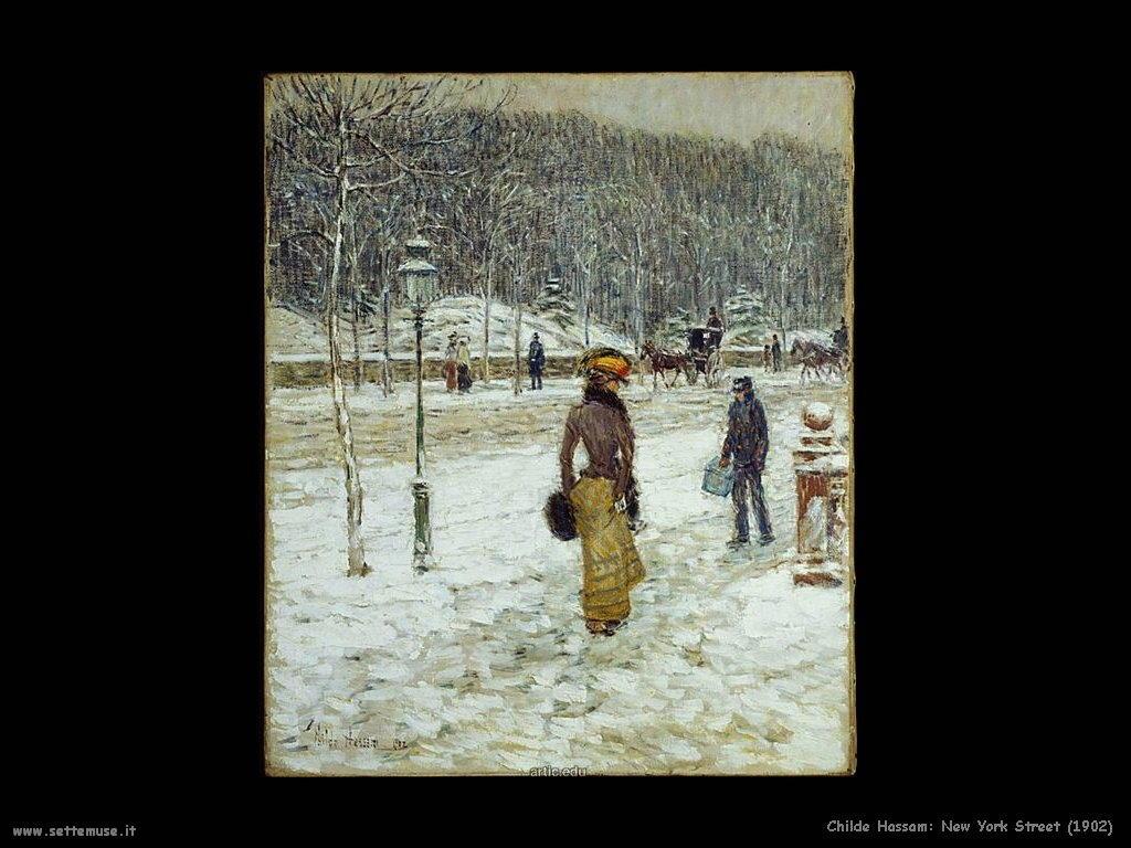 Childe Hassam Strada di New York (1902)