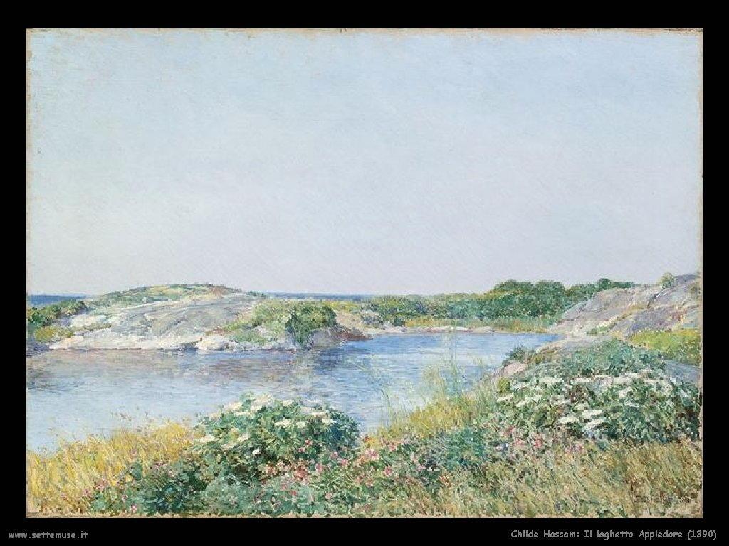 Childe Hassam_ Il laghetto_Appledore_1890