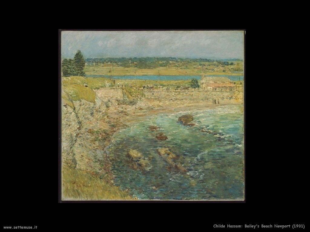 Childe Hassam Spiaggia di Bailey, Newport (1901)
