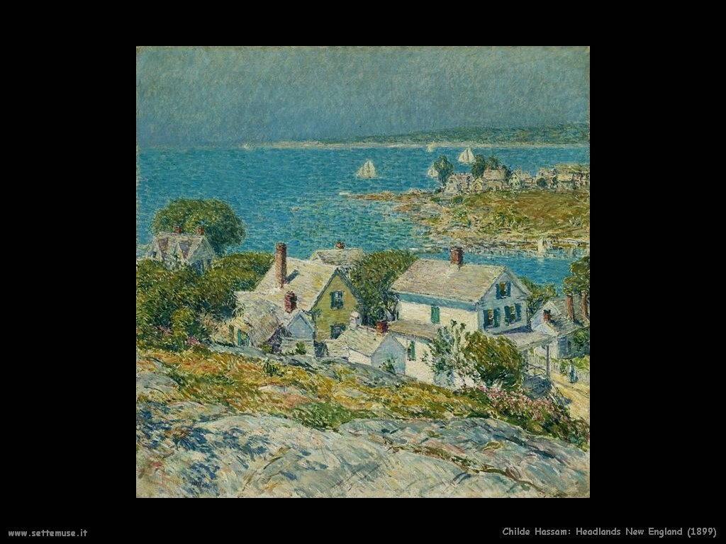 Childe Hassam Headlands, Inghilterra (1899)