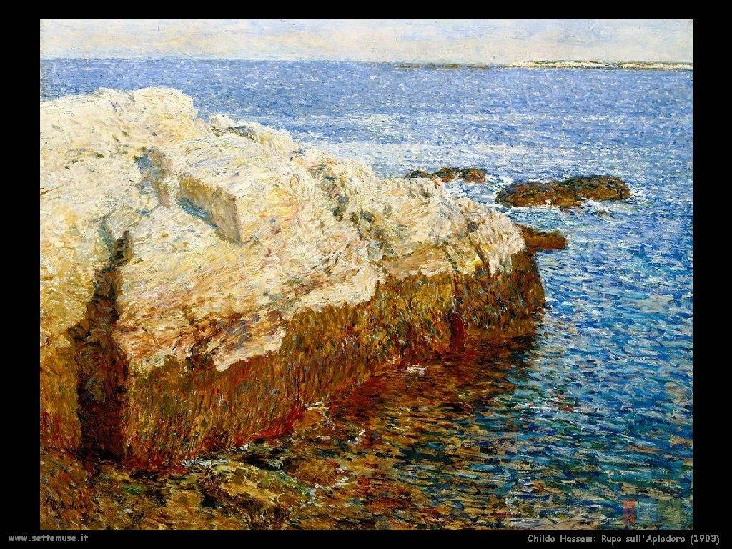 Childe Hassam Rupe_sull_Apledore_1903