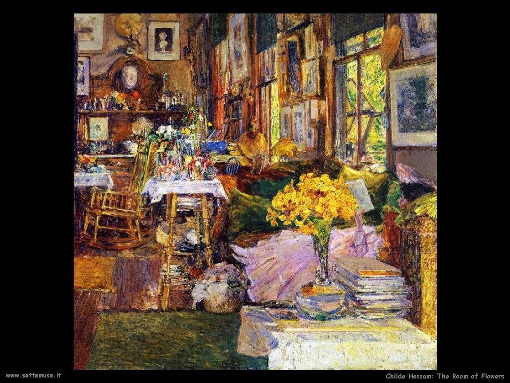 Childe Hassam La stanza dei fiori