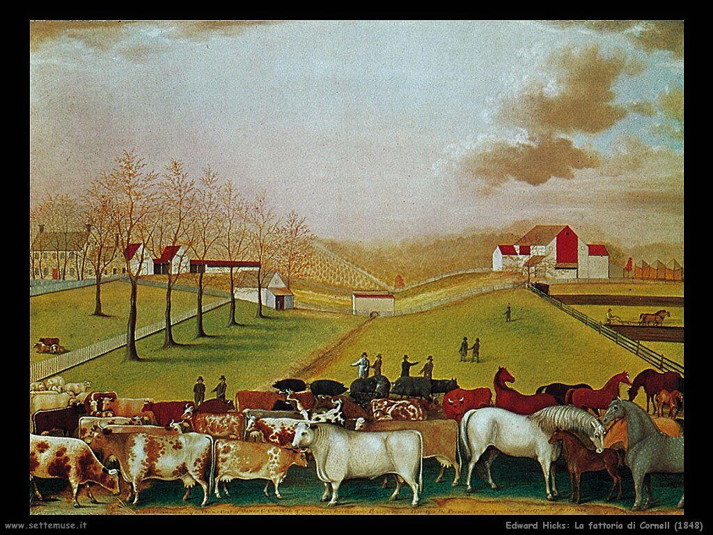 edward_hicks La fattoria dei Cornell (1848)