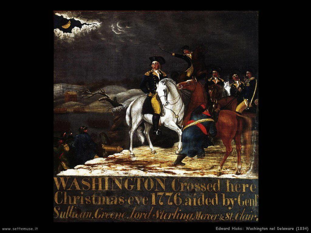 edward_hicks_Washington nel Deleware (1834)