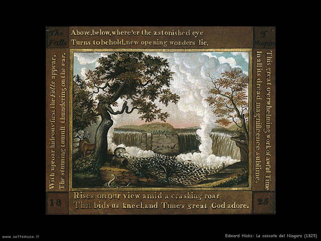 edward_hicks Le cascate del Niagara (1825)