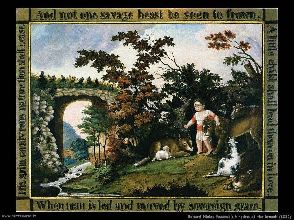edward_hicks_Regno pacifico del ramo (1830)