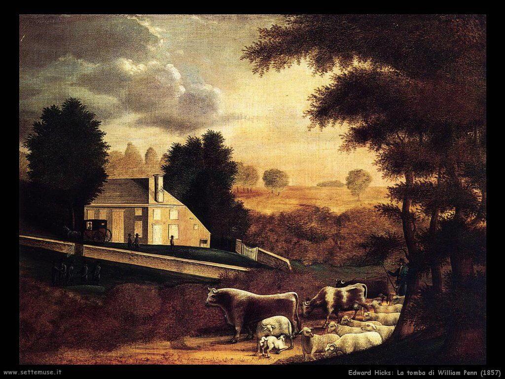 edward_hicks_La tomba di William Penn (1857)