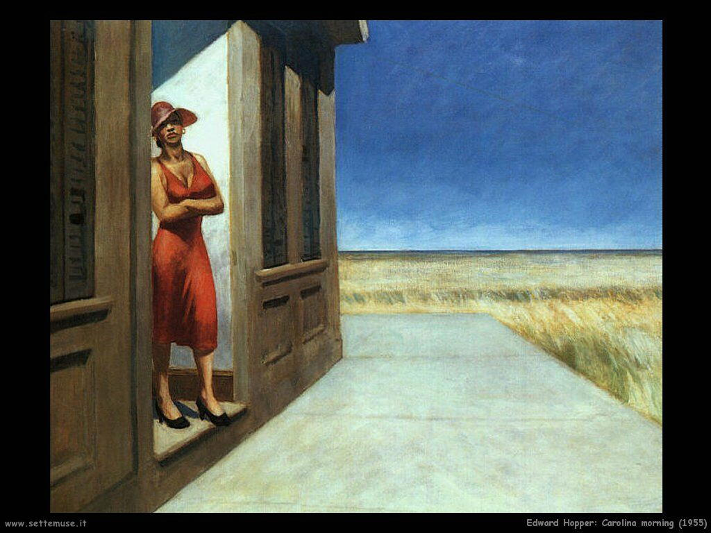 edward_hopper_Carolina Mattino (1955)