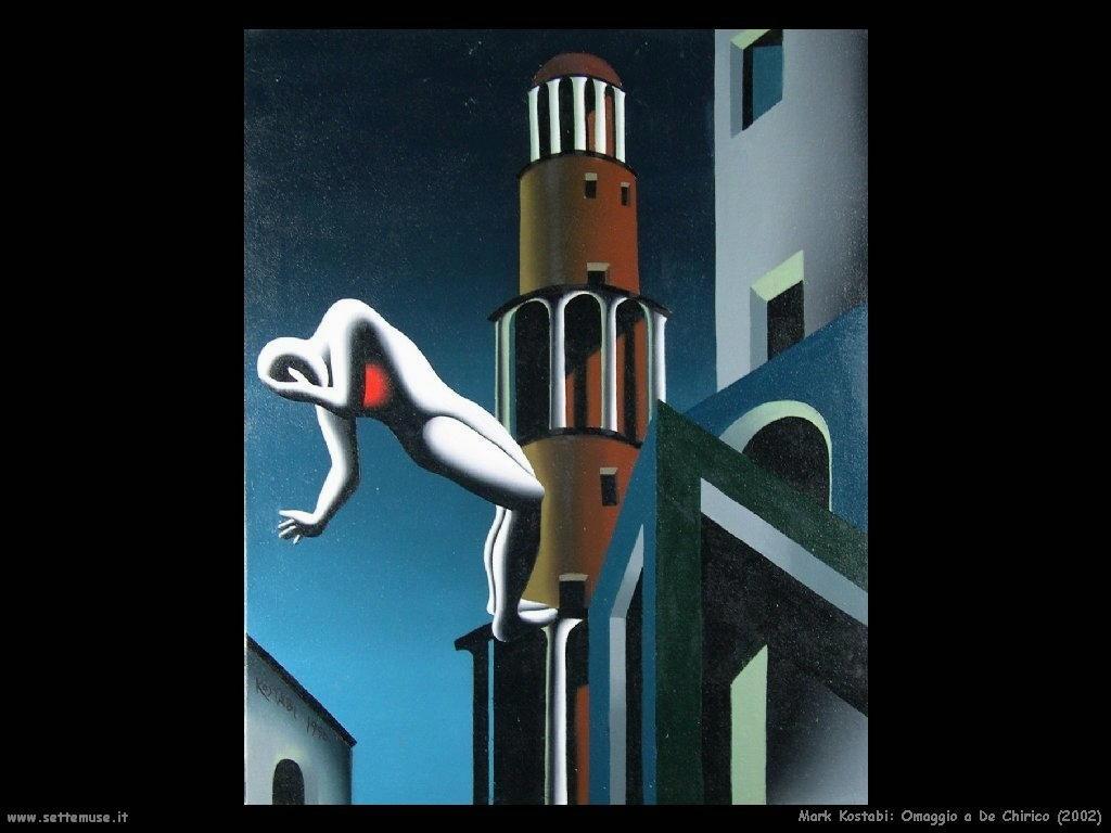 Mark Kostabi_omaggio_a_dechirico_2002 artwork