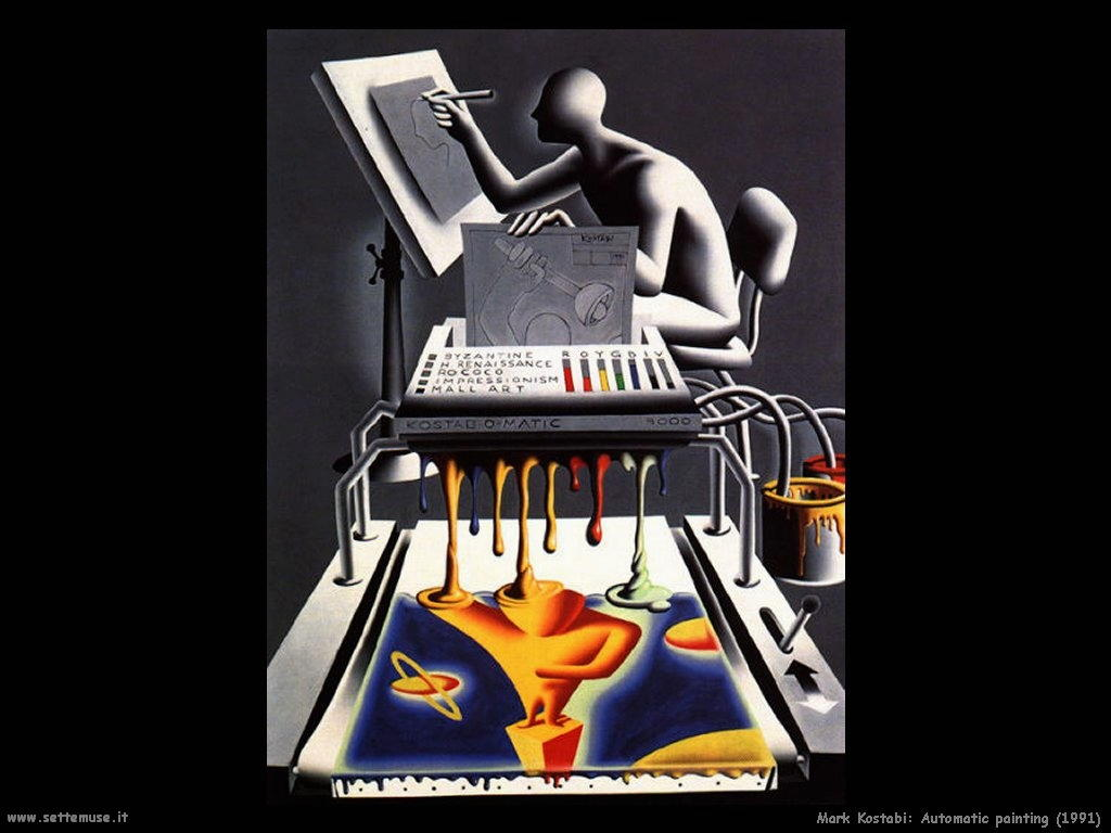 Mark Kostabi_Pittura automatica_1991