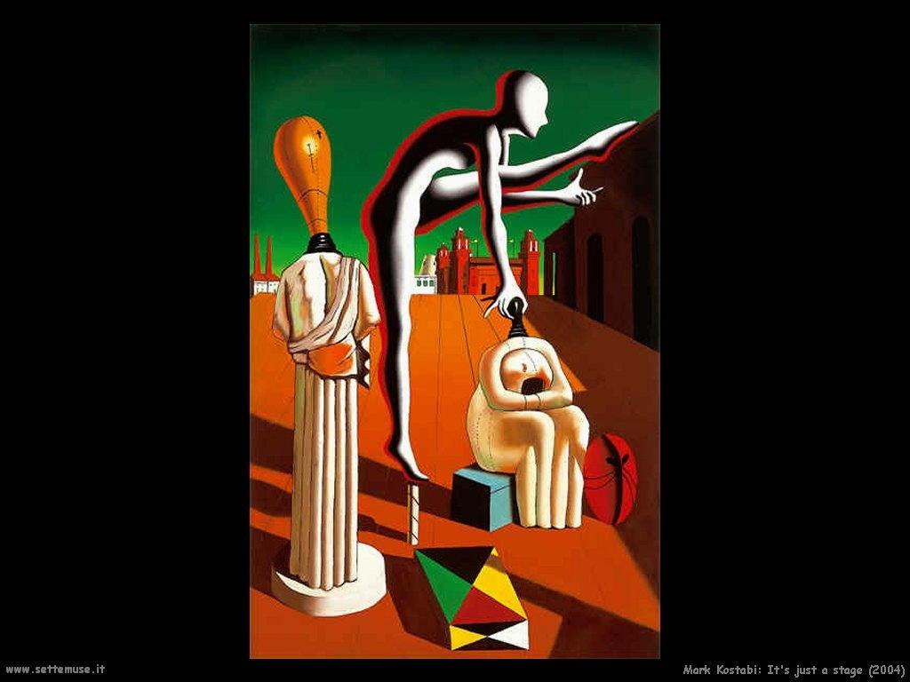 Mark Kostabi_è solo una fase_2004 artwork