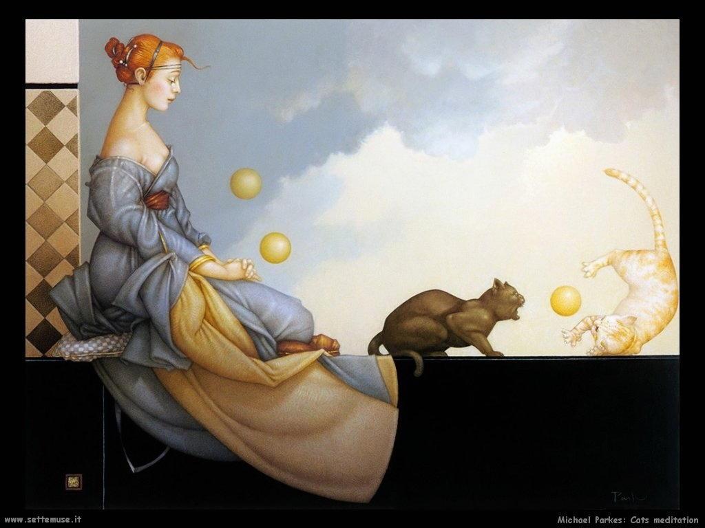 michael_parkes Meditazione felina