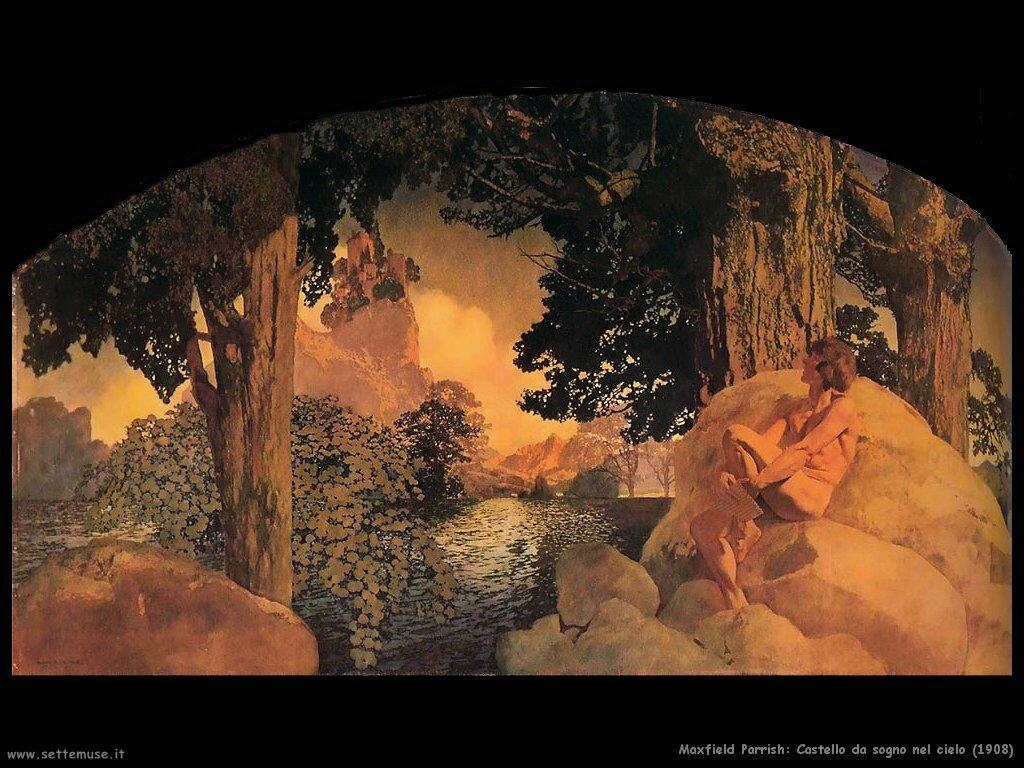 Frederick Maxfield Parrish Castello da sogno nel cielo (1908)
