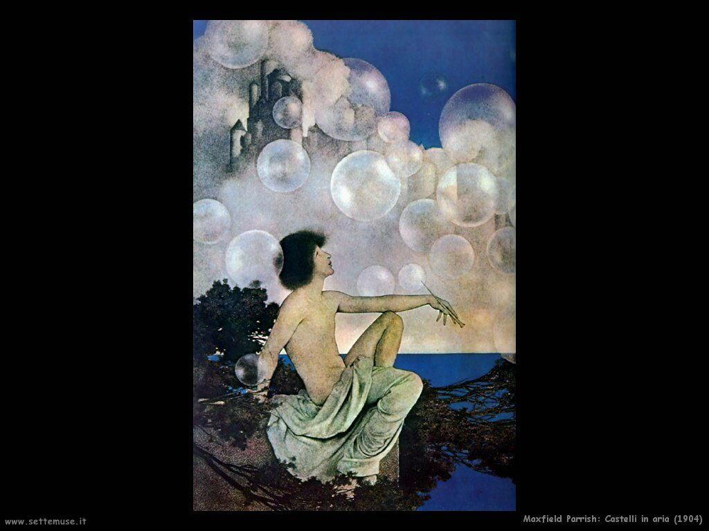 Frederick Maxfield Parrish Castelli in aria (1904)